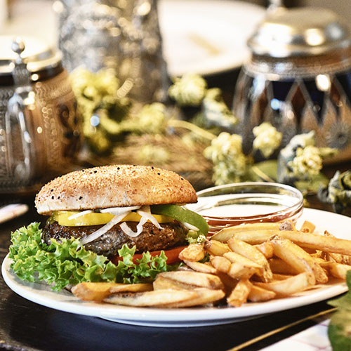 Hämmerla, Hopfen Biergarten, Burger