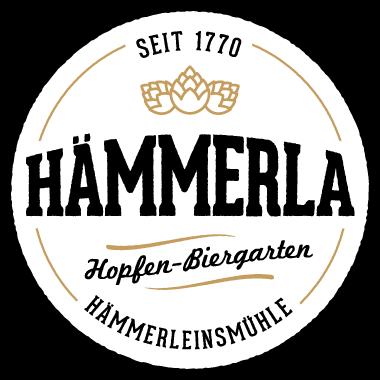 Hämmerla, Hopfen Biergarten, Logo